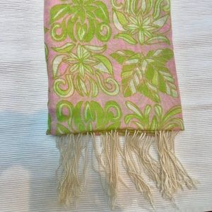 Lilly Pulitzer silk and cashmere murfee scarf